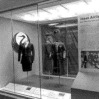 "Installation view of ""Japan Airlines: Over Fifty-Five Years of Service"""