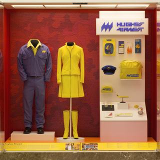 """Installation view of """"Catch Our Style: California Regional Airlines"""""""