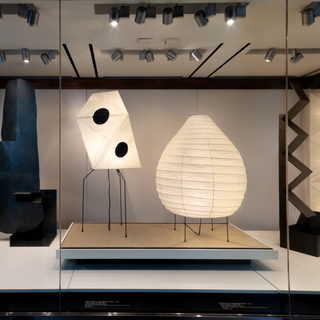 """Installation view of """"Isamu Noguchi: Inside and Out"""""""