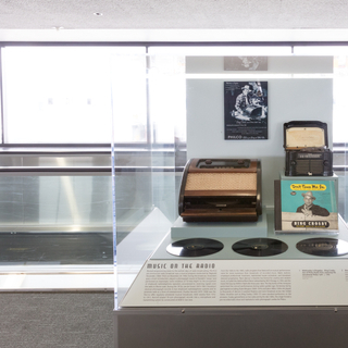 "Installation view of ""On the Radio"""