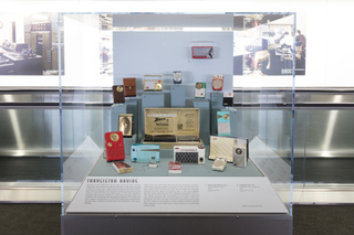 """Installation view of """"On the Radio"""""""