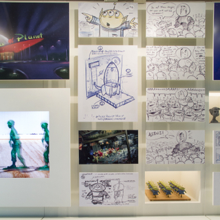 """Installation view of """"Pixar's Toy Story"""""""