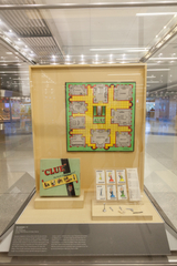 """Installation view of """"Let's Play! 100 Years of Board Games"""""""