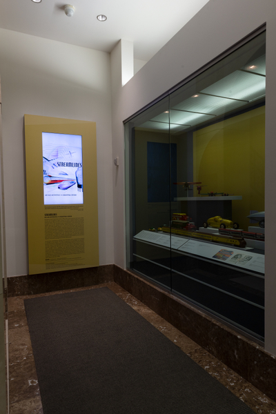 "Installation view of ""Streamlines: Aerodynamic Consumer Designs for the Air Age"""