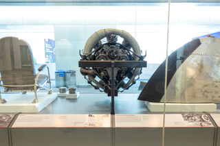 """Installation view of """"Aluminum: the Miracle Metal of Aviation"""""""