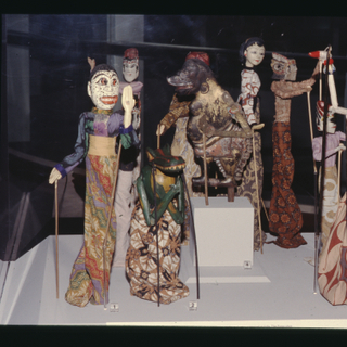 "Installation view of ""A World View of Puppets"""