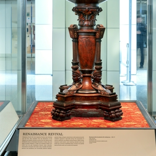 """Installation view of """"The Style of Display: Victorian Pedestals"""""""