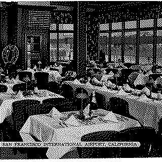 postcard: San Francisco Airport, Skyway Cafe