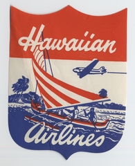 luggage label: Hawaiian Airlines