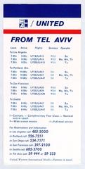 timetable: United Air Lines and El Al