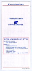 timetable: United Airlines, quick reference Chicago