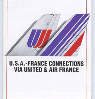 timetable: United Airlines and Air France
