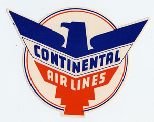 luggage label: Continental Airlines