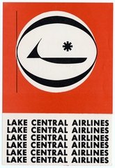 luggage label: Lake Central Airlines