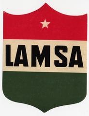 luggage label: LAMSA (Líneas Aéreas Mexicanas)