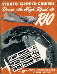 tour package brochure: Pan American Airways System, Rio de Janeiro