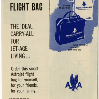 flight information packet: American Airlines, Boeing 707