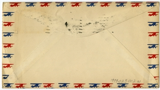 airmail flight cover: Interstate Airlines, Inc., CAM-30, Chicago - Atlanta route, Usher Rousch