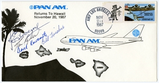 airmail flight cover: Pan American World Airways, Hawaii