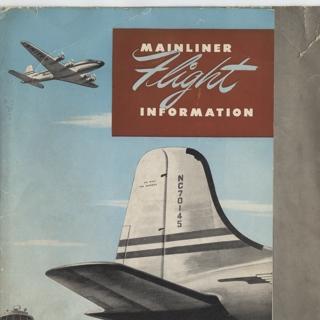 flight information packet: United Air Lines, Douglas DC-4, Lockheed L-049 Constellation