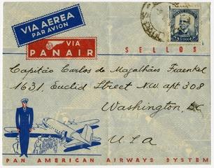 airmail flight cover: Panair do Brasil