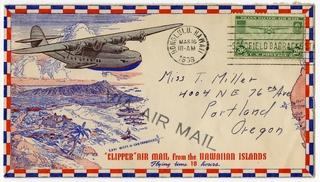 airmail flight cover: Pan American Airways, Clipper Air Mail, Hawaii