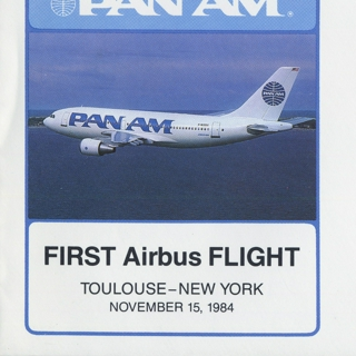 airmail flight cover: Pan American World Airways, Airbus, Toulouse - New York route