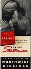 brochure: Northwest Airlines, Boeing 377 Stratocruiser