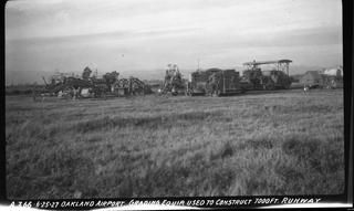 negative: Oakland Airport, runway construction
