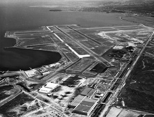 negative: San Francisco Airport, aerial