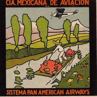 luggage label: Mexicana de Aviación S.A., Pan American Airways
