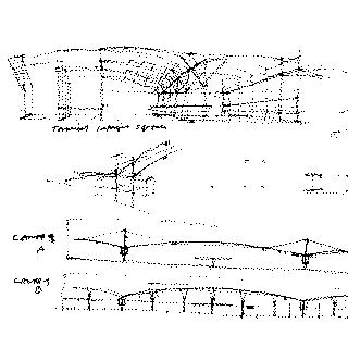 architectural design drawing: San Francisco International Airport (SFO), Skidmore, Owings & Merrill (SOM)