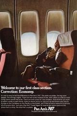 advertisement: Pan American World Airways, Boeing 747