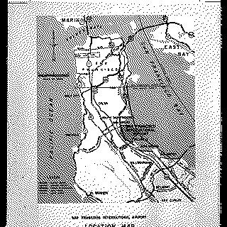 negative: San Francisco International Airport (SFO), highway access map