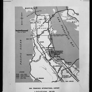 negative: San Francisco International Airport (SFO), highway access map