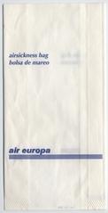 airsickness bag: Air Europa
