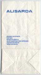 airsickness bag: Alisarda