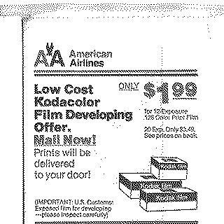 airsickness bag: American Airlines