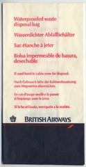 airsickness bag: British Airways