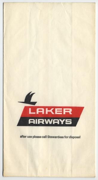 airsickness bag: Laker Airways