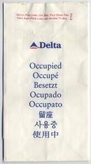 airsickness bag: Delta Air Lines