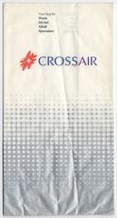 airsickness bag: Crossair