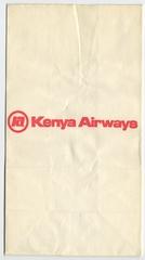 airsickness bag: Kenya Airways