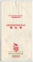 airsickness bag: Dragonair