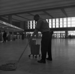 negative: San Francisco International Airport (SFO), Terminal Building, custodial staff