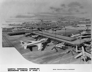 negative: San Francisco International Airport (SFO), architectural drawings