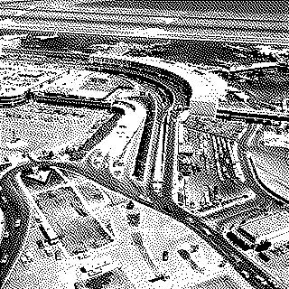 negative: San Francisco International Airport (SFO), aerial, South Terminal and parking garage