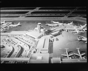 negative: San Francisco International Airport (SFO), architectural model