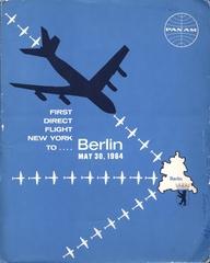 press kit: Pan American World Airways, Berlin inaugural service