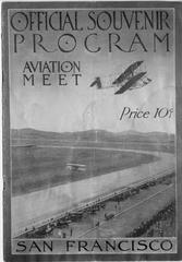 program: Official Souvenir Program, Aviation Meet (Tanforan - San Francisco)